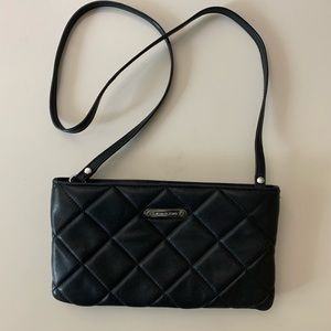 Michael Kors black quilted padded crossbody bag